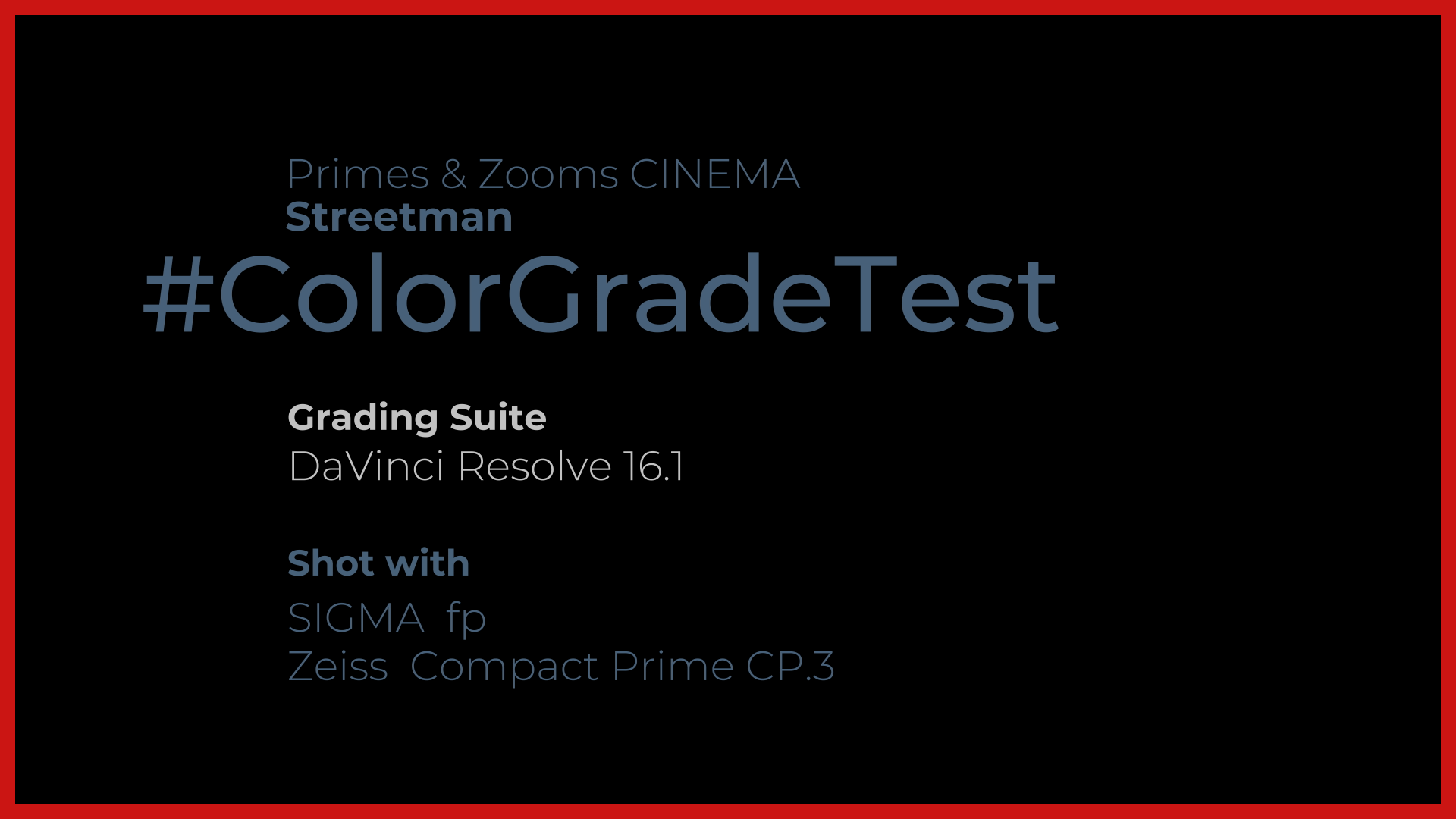 Primes and zooms Grade Test: street man